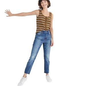 Madewell 26 High Rise Slim Crop Boy Jean